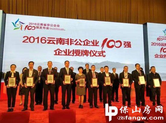 2016云南省非公企业100强名单