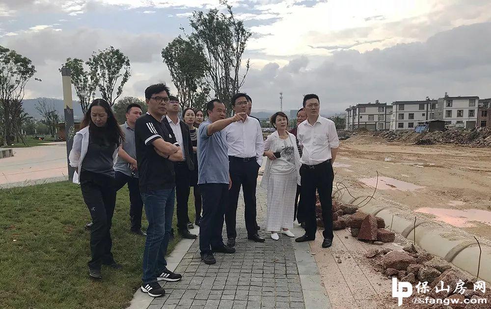 碧桂园云南区域总裁潘永卓到保山考察